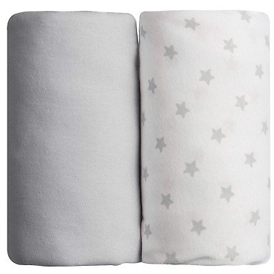 Babycalin Fitted Sheets Set of 2 60 x 120 cm Grey