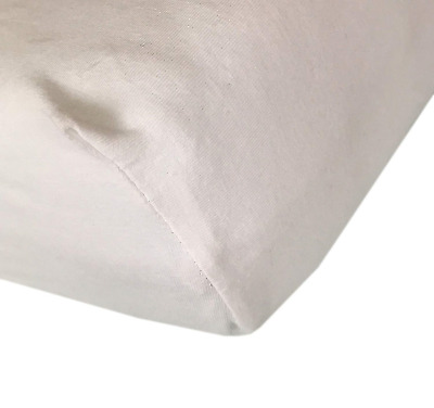Cot Bed Fitted Sheets - 100% Brushed Cotton Jersey Bed Covers Pack of 2, White -