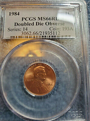 1984 Lincoln Memorial Cent Doubled Die Obverse PCGS MS66 RD 1c DDO