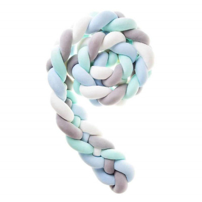 Wanguo Cot Bed Bumper Braid Pillow Nursery Decorations Braided Bumper For Crib :