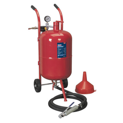 Shot Blaster with Water Trap & Wheels 37ltr SEALEY SB997