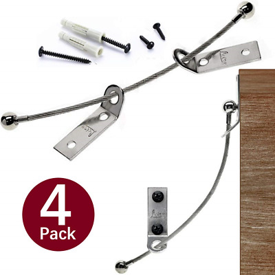 Anti Tip Furniture Anchors LEIRY 4 Pack Baby Furniture Straps Child Proofing Kit