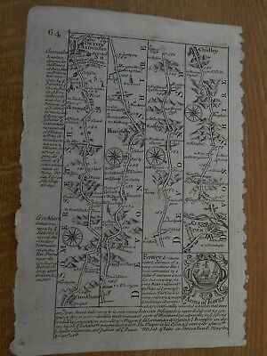 AXMINSTER HONITON EXETER YEOVIL OWEN BOWEN MAP c1720 FROM BRITANNIA DEPICTA
