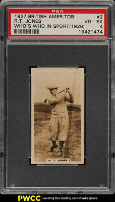 1927 British American Who's Who Bobby Jones #2 PSA 4 VGEX (PWCC)