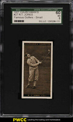 1927 Churchman's Famous Golfers Small Bobby Jones #27 SGC 5 EX (PWCC)