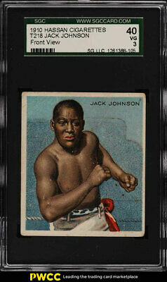 1910 T218 Champions Prize Fighter Jack Johnson FRONT FACE SGC 3 VG (PWCC)