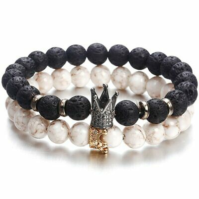 New Fashion Beaded Women Men Bracelets Simple Classic Round Bead Charm Bracelets