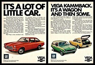 1971 /& 1973 CHEVROLET VEGA 11x18 CHEVY POSTER BROCHURE FEATURES OPTIONS More