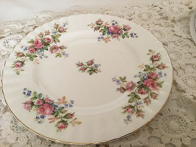 "Royal Albert Bone China 6"" Bread/Butter Plate  England  Moss Rose Pattern"