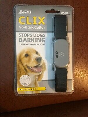 Clix No Bark Collar Vibrate & Sound Small - Brand New