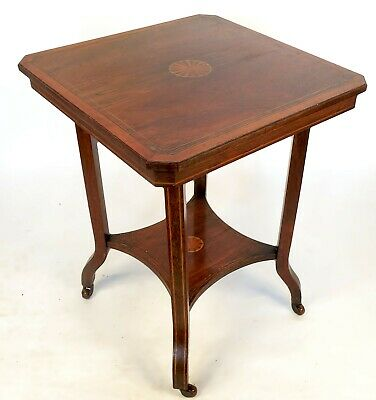 Antique Edwardian Inlaid Occasional Table