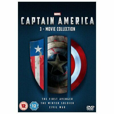 Captain America 1-3 DVD boxset Complete 3 movie collection brand new and sealed