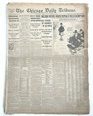 4/1/1914 Chicago Daily Tribune NEWSPAPER 30 page ADS NEWS LOCAL WORLD April fool