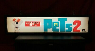 "The Secret Life Of Pets 2 (2019) Large Movie Theater Mylar 5"" X 25"""