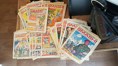 Joblot Smash Comics - Also Pow / Beano / Valiant / Lion / TV Tornado / Buster