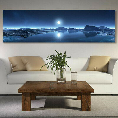 Long Poster Moon Picture Canvas Print Painting Wall Art Landscape Home Decor New
