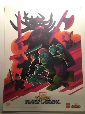 Sdcc 2017 Marvel Lego Thor Ragnarok Comic-Con Exclusive Poster Tom Whalen 18X24