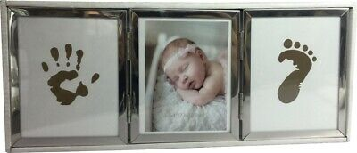 Baby Photo frame with hand and foot print facility with ink pad