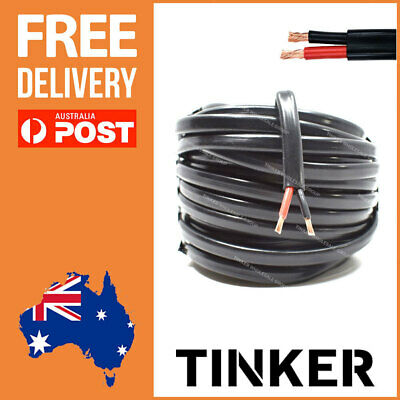 4mm Twin Core Cable 20m Roll Sheathed 22 Amp Automotive RV 4WD Wire Aussie Made