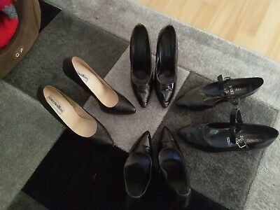 Mens Vintage Pvc And Leather Shoes, Heels, Fetish, Sissy, Cross Dressing