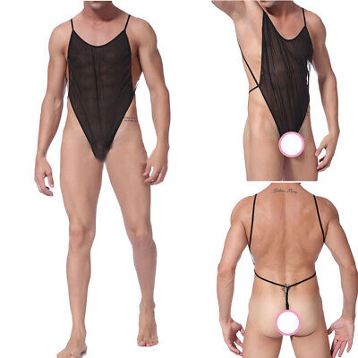 2019 Uomo Sexy Tuta Body Stretch Traspirante Canottiera Body Intimo