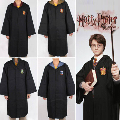 Harry Potter Gryffindor Adults Kids Costume Robe Cloak Cape Cosplay Fancy Dress