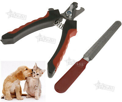 Pet Puppy Dog Cat Nail Trimmer Pliers Scissors Clipper + File Small Size
