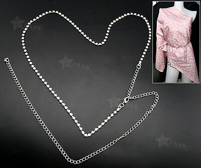 Fashion Ladies Rhinestones Diamante Waist Belt Chain Designer Party Dress Belt