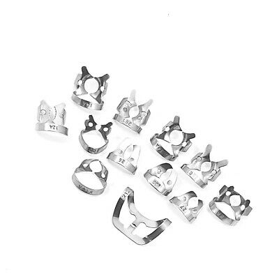 Set of 12 - Dental Rubber Dam Clamp Endodontic Surgical Instruments CE