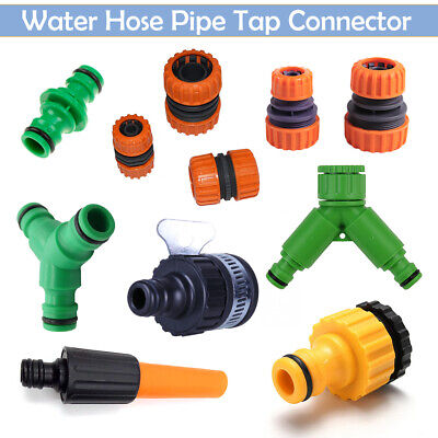 Universal Garden Watering Water Hose Pipe Tap Plastic Connector Adaptor Fittings