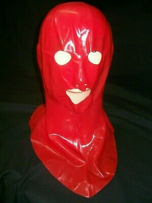 Red Fetish Bondage Latex Wear Rubber Mask 1230 Open Mouth Gimp Sexy Erotic
