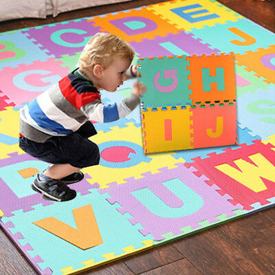 36Pcs Kids Alphabet Number Letter Floor Play Mat Baby Room Jigsaw ABC foam Puzzl