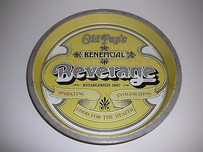 Bar Drinks Tray Old Pop's Beneficial Beverage Co. Collectable Advertising
