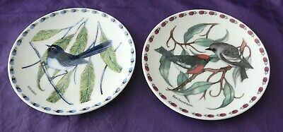 Feathered Jewels Bird Plates by Sara Attanasio Australian Fine China Collectable