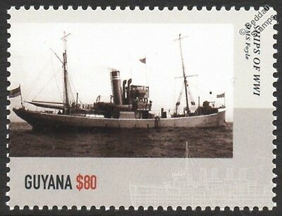 HMS FOYLE (1903) Laird Type River Class WWI Royal Navy Warship Stamp