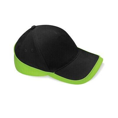 Beechfield Teamwear Competition Cap Black/lime Green O/s