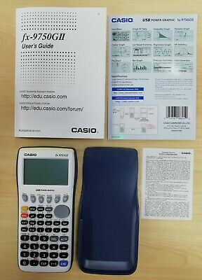 Casio FX-9750GII Graphic Graphical Calculator for calculus, algebra, trig
