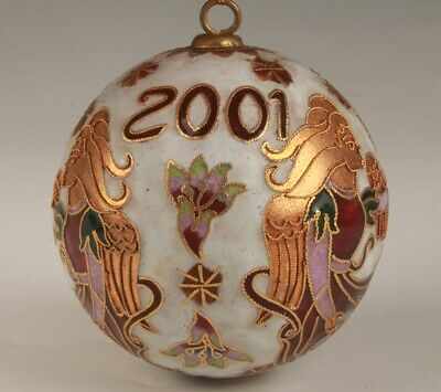 Unique Chinese Cloisonne Hand Carving Christmas Ball Pendant Gift Collection