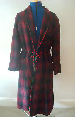 Vintage Mens Robe Smokers Jacket Dressing Gown Made In England