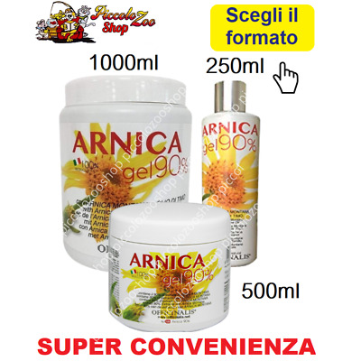 Officinalis Arnica gel 90% cavalli traumi, distorsioni muscoli 250/500/1000ml