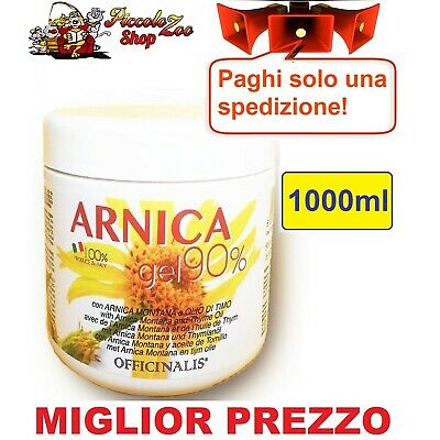 Officinalis Arnica gel 90% cavalli 1000ml antinfiammatorio distorsioni tendini