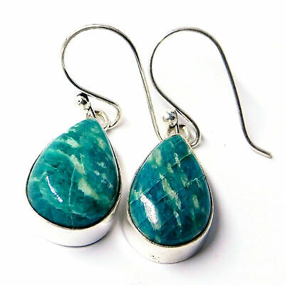 Amazonite 925 Sterling Silver Plated Handmade Jewelry Earring 6 Gm