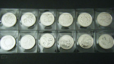 Canada 2000 Millennium Of 12 Mint 25 Cent Coins Canadian Mation's 12 Traits.