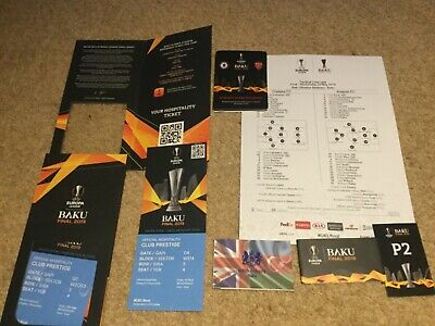 2019 Europa League Final TICKET & Welcome Pack Chelsea v Arsenal 7 ITEMS