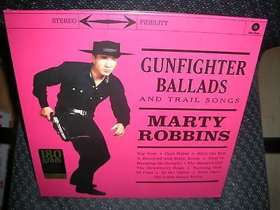 MARTY ROBBINS *Gunfighter Ballads and Trail Songs *NEW 180 GRAM RECORD LP VINYL