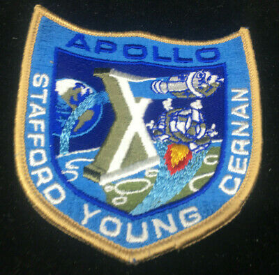 Hook Patch Stafford Young Cernan Embroidered NASA Space Program Apollo X 10