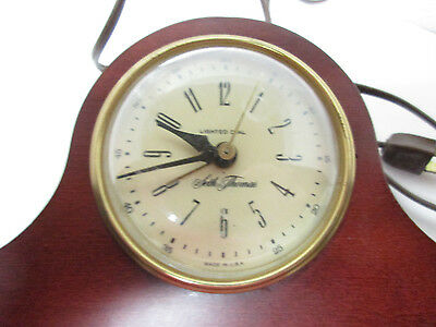 Vintage Seth Thomas Lighted Dial AC Mantle Clock, Mounted in Wood, USA Made