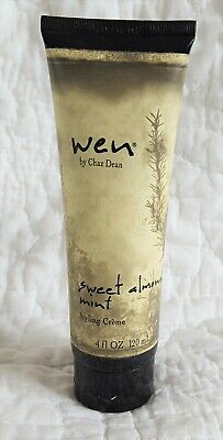 Full Tube No Seal Wen by Chaz Dean Sweet Almond Mint Styling Creme Cream 4 oz
