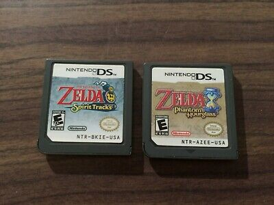 The Legend of Zelda Spirit Tracks +Phantom Hourglass (Nintendo DS LOT) Authentic