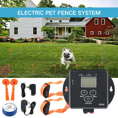 New Electronic In-Ground Pet Fence Dog Training Collar Fence Containment System